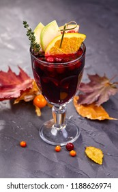 winter drink with berries