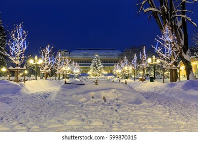 Winter evening in Bad Ischl