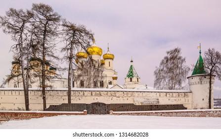 Winter evening in  Ipatiev Monastery in Kostroma