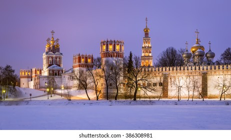 Winter evening near the Novodevichy Convent