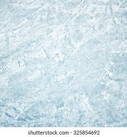 Winter field of ice path