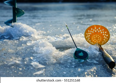 Winter fishing, ice fishing