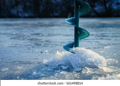 Winter fishing. Ice fishing