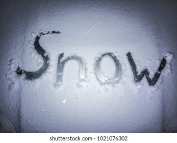 winter focus snow word night