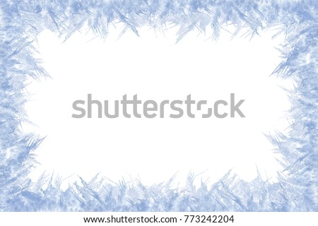 Winter Frame Gleaming Ice Center Composition Stock Photo (Edit Now ...
