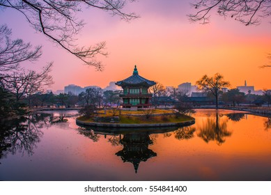 winter at gyeongbokgung palace seoul korea
