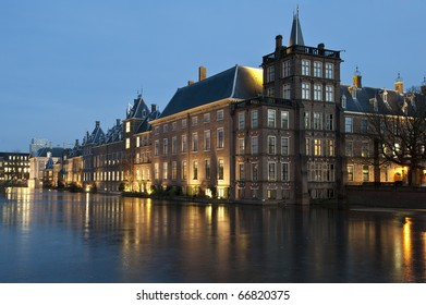 Winter in The hague by night