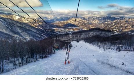 Winter in Hakuba Valley, Japan