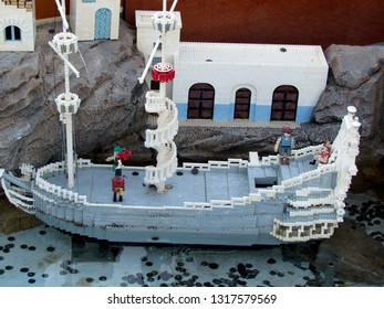 Winter Haven/USA - March 01 2014: Miniature built from Lego pieces in Legoland, Florida. Legoland Florida is a theme park in Winter Haven, Florida.