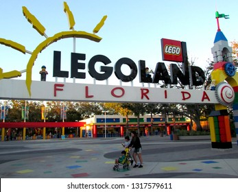 Winter Haven/USA - March 01 2014:  Legoland, Florida entrance. Legoland Florida is a theme park in Winter Haven, Florida.