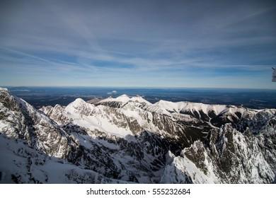 Winter in High Tatras Mountains. High Tatry. Slovakia. Vysoke Tatry.