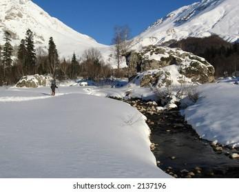 Winter hiking in Caucasus