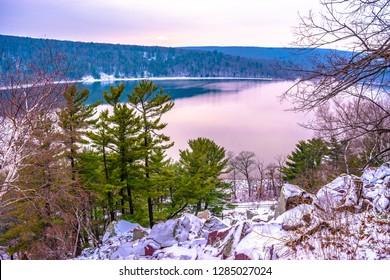 Winter Hiking at Devil's Lake in Wisconsin