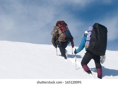 winter hiking on Kamchatka