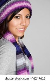 Winter Hispanic Girl