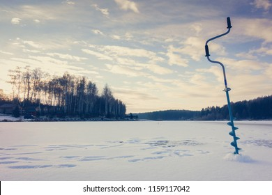 Winter ice fishing