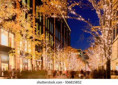 Winter Illumination in Tokyo near Marunouchi