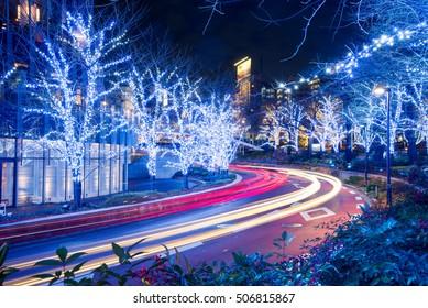 Winter Illumination in Tokyo near Roppongi Hills