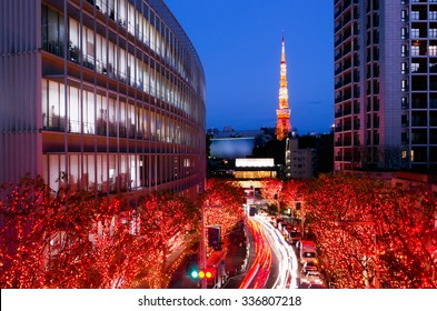 Winter Illumination in Tokyo seen from Roppongi Hills