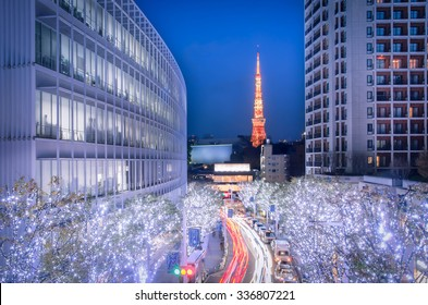 Winter Illumination in Tokyo seen from Roppongi Hills