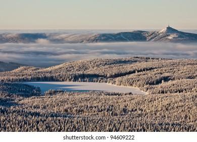 Winter inversion over Liberec city