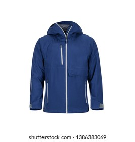 Winter Jacket Isolated On White Background, Sports Clothes