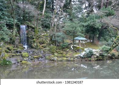 Winter at Kenroku-en Garden, Kanazawa, Japan
