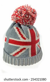 Union Jack Flag. Edit. Artist. Similar. Save. Winter Knitted Wool Ski Hat  With UK Flag Pattern Isolated On White Background 270a2c434911