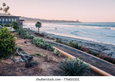 Winter La Jolla beach in San Diego California