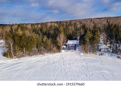 Winter at The Lake Snowmobile Cabin