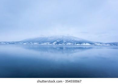 Winter Lake in Tromso, Northern Norway