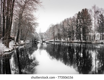 winter lake wallpaper