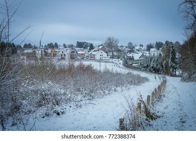 Winter landscape admires its beauty