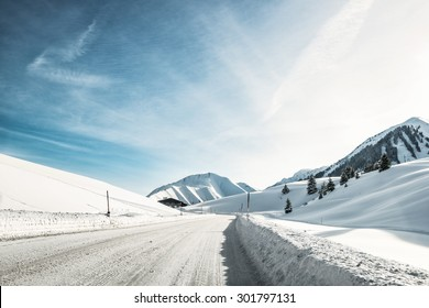 Winter landscape in the Alps