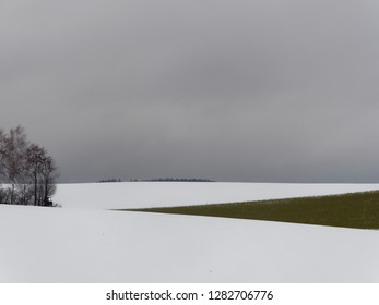 winter landscape in Austria with snow