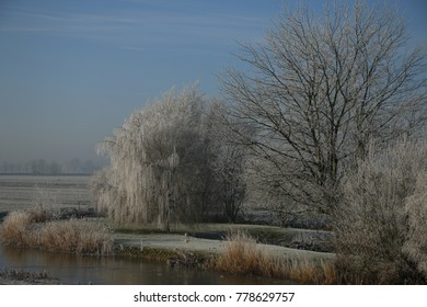 Winter landscape in the countryside of the Netherlands