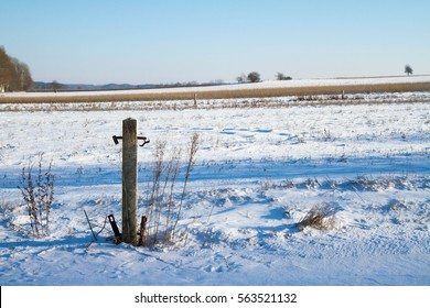 Winter landscape - fields in snow