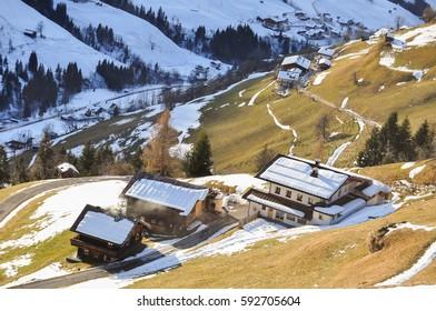 winter landscape in Grossarl, Austria