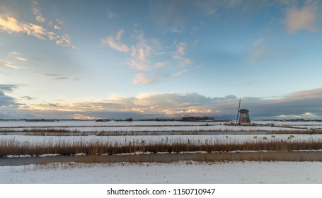 Winter landscape from Holland.