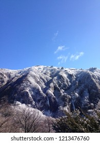 A winter landscape of Jeju Hallasan Mountain, snowing view