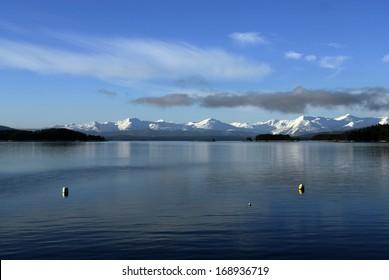 Winter Landscape in Juneau, Alaska