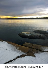 Winter landscape from Larvik, Norway.