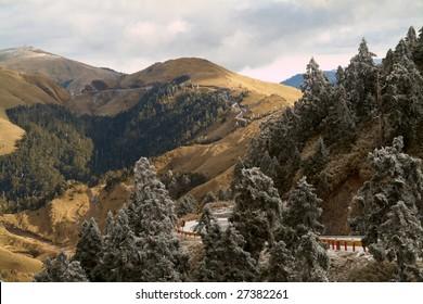 winter landscape of mountain
