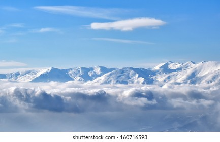 Winter landscape mountain from Macedonia