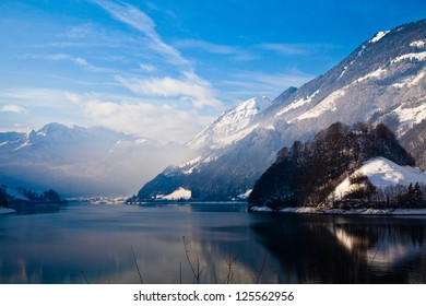 Winter landscape. winter mountains landscape. Beautiful winter