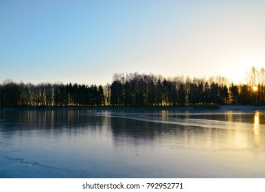 winter landscape near the lake