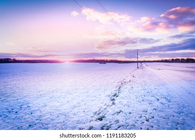 Winter landscape in northern Germany