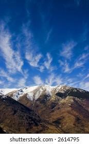 winter landscape on national park pelister, macedonia