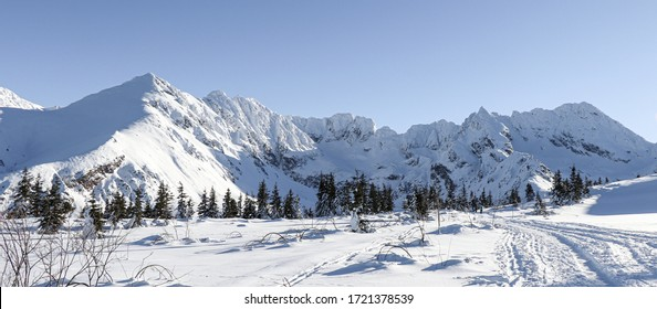 Winter landscape from Polish mountains