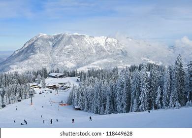 winter landscape with ski lift